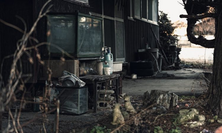 高齢者の住むアパート